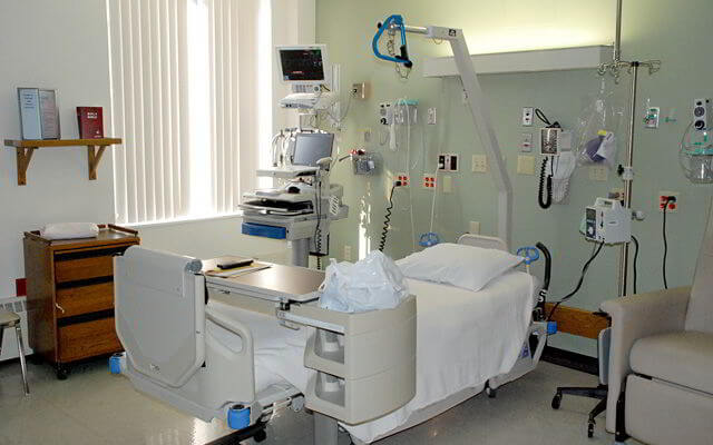 One of Eight Critical Care Unit Rooms